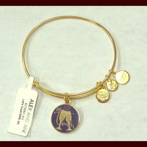 Let's Toast-Gold Bracelet Alex and Ani NWT